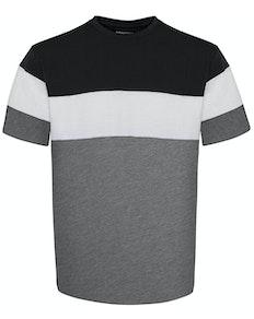 Bigdude Cut & Sew T-Shirt Black/Grey Tall