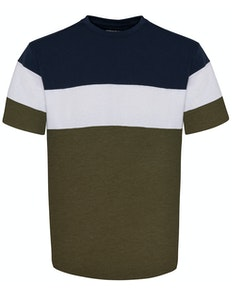 Bigdude Cut & Sew T-Shirt Navy/Olive Tall