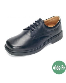 DB Shoes Shannon Wide Fit Black Leather Shoe