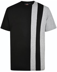 Espionage Cut & Sew T-Shirt Black/Grey