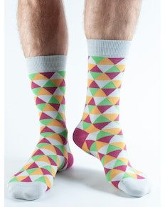 Doris & Dude Magenta Triangle Socks