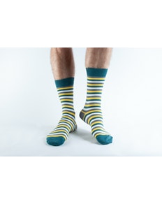 Doris & Dude Yellow Stripe Socks