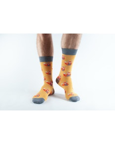 Doris & Dude Mustard Fox Socks