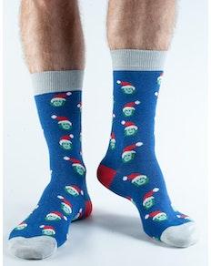 Doris & Dude Blue Sprouts Socks