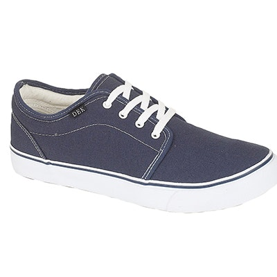 Canvas Lace Up Plimsolls Navy