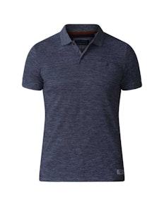 D555 Dunstan Heavy Slub Polo Shirt Black Tall