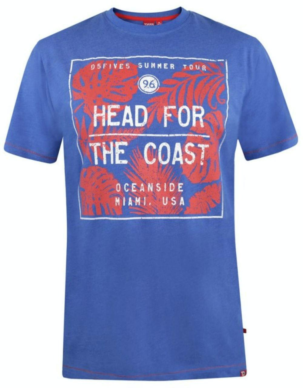 D555 Arizona Printed T-Shirt Blue