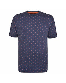 Espionage Mini Palm Print T-Shirt Navy Marl