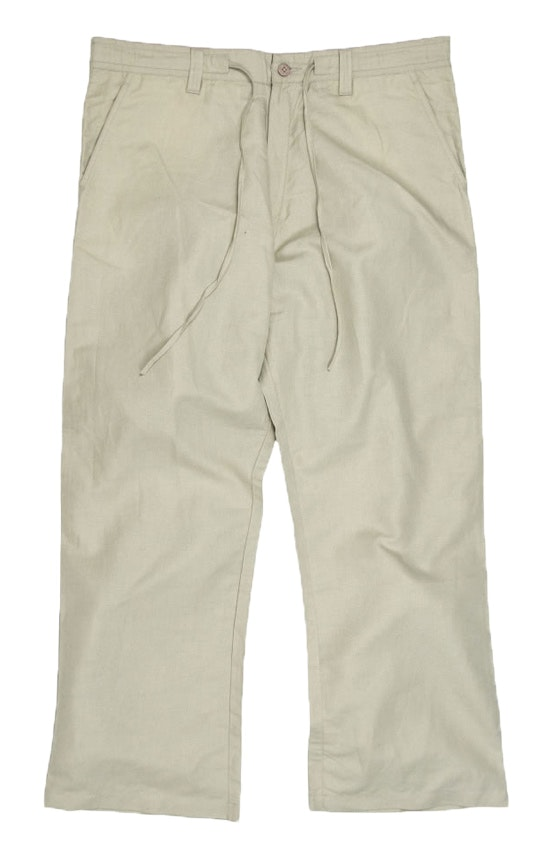 Ed Baxter Beige Linen Trousers