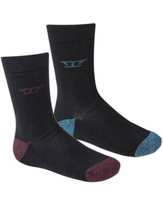D555 Eden Cushioned Sole Twin Pack Socks