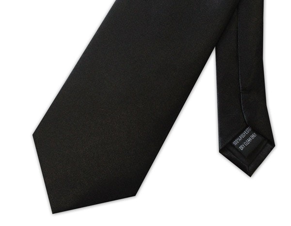 Knightsbridge Extra Long Plain Tie Black