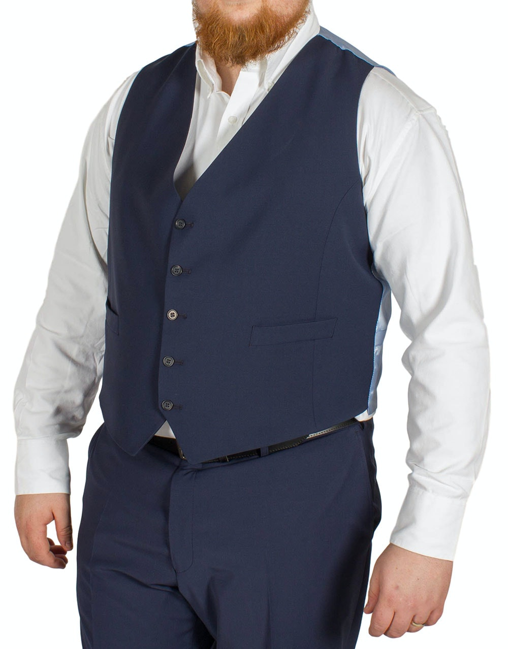 Hugo James Hazan Waistcoat Midnight Blue