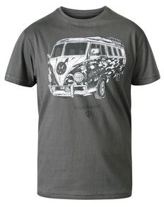 D555 Fadden VW Campervan Camo Printed T-Shirt Khaki
