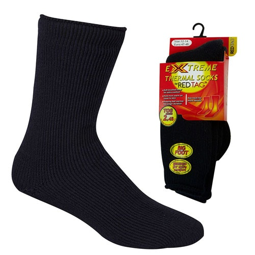 Mens Extreme Thermal Socks Black