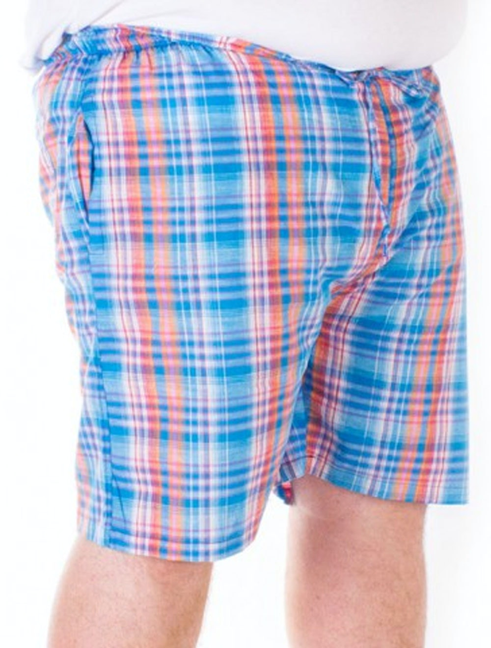 Fitzgerald Loungewear check shorts Sky Blue