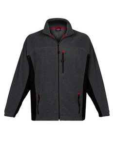 Espionage Bonded Rib Fleece Jacket Charcoal