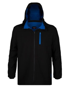 Espionage Hooded Soft Shell Jacket Black/Blue