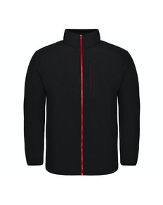 Bigdude Contrast Zip Fleece Jacket Black