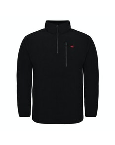 Bigdude 1/4 Zip Fleece Pullover Black