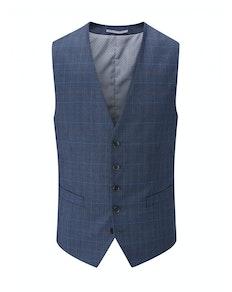 Skopes Saltley Check Waistcoat Blue