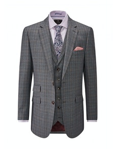 Skopes Warley Check Jacket Grey/Blue