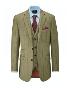 Skopes Goodwood Check Blazer Olive