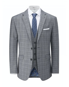 Skopes Kolding Check Jacket Blue/Grey