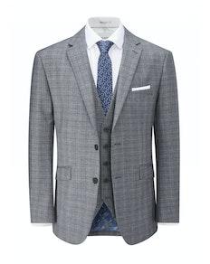 Skopes Kolding Check Jacket Blue/Grey