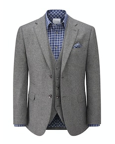 Skopes Hafren Tweed Blazer Charcoal