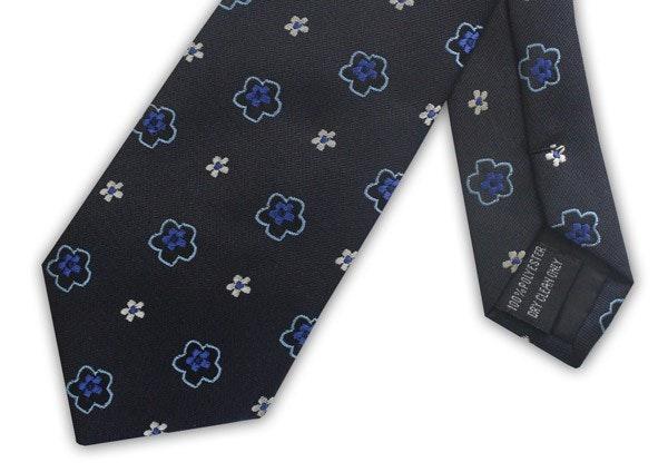 Knightsbridge Extra Long Floral Tie Blue