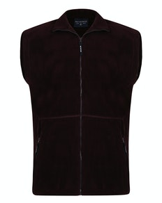 Metaphor Plain Full Zip Gilet Wine