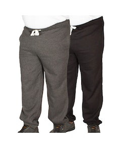 Bigdude Basic Joggers Twin Pack Black/Charcoal