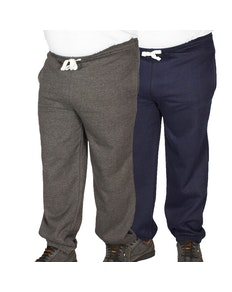 Bigdude Basic Joggers Twin Pack Charcoal/Navy