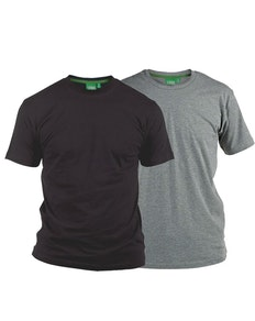 D555 Fenton Grey and Black Multipack T-Shirts