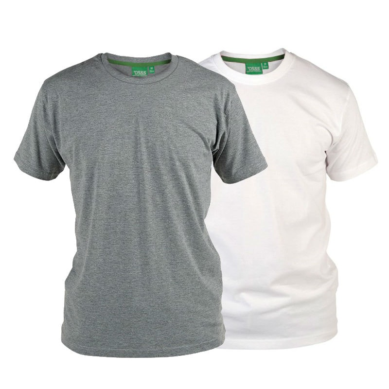 D555 Fenton Grey and White Multipack T-Shirts