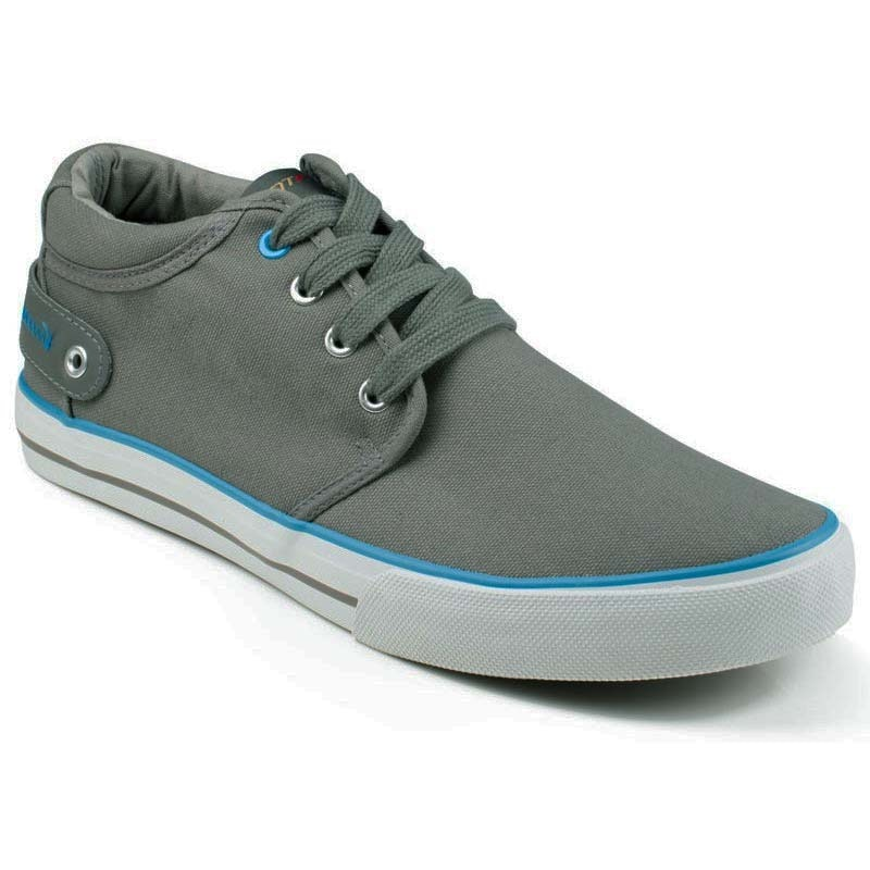 Front Reef Canvas Lace Up Trainers Grey