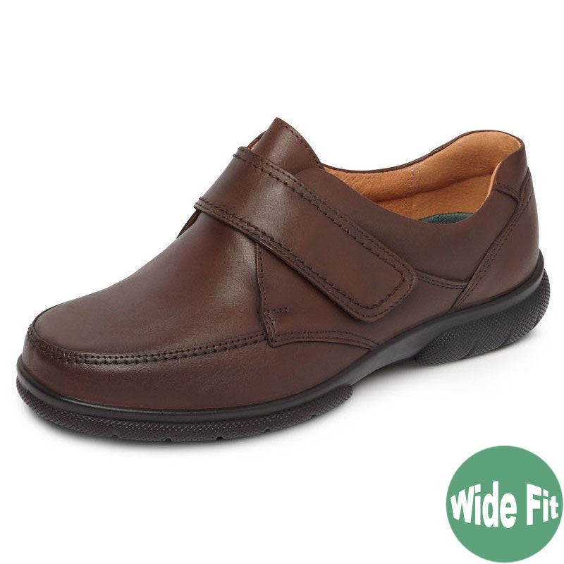 DB Shoes Havant Wide Fit Leather Brown Shoe