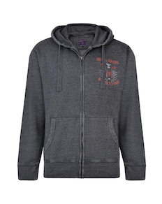 KAM Rebel Bikers Hoody Charcoal