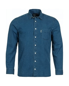 Replika Denim Long Sleeve Shirt Blue