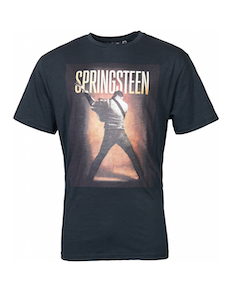 Replika Bruce Springsteen Printed T-Shirt Black