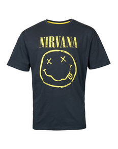 Replika Nirvana Printed T-Shirt Black