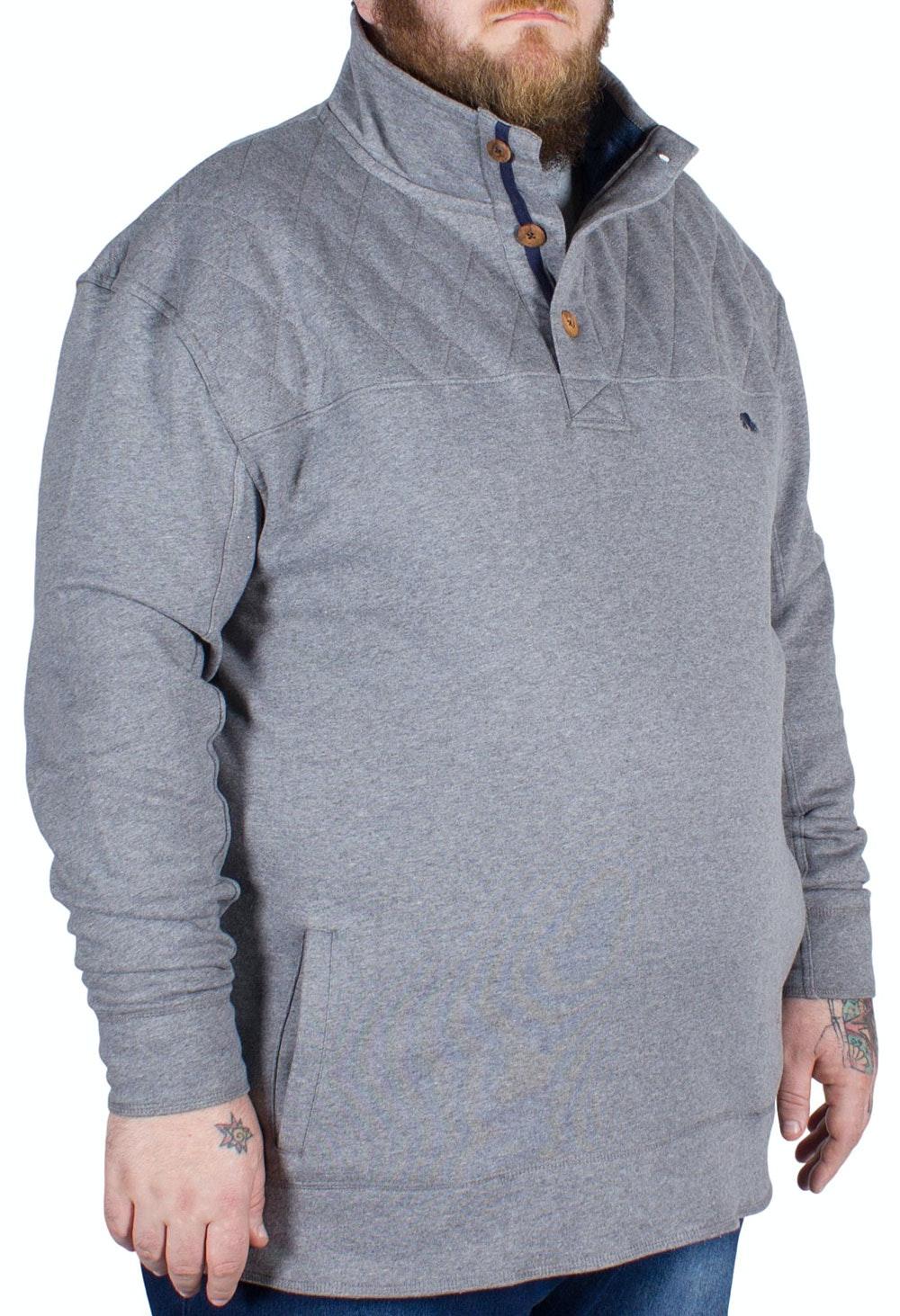 Raging Bull Funnel Neck Sweater Grey