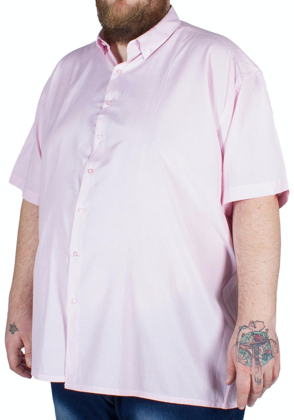 Fitzgerald Spain Short Sleeve Striped Shirt Pink