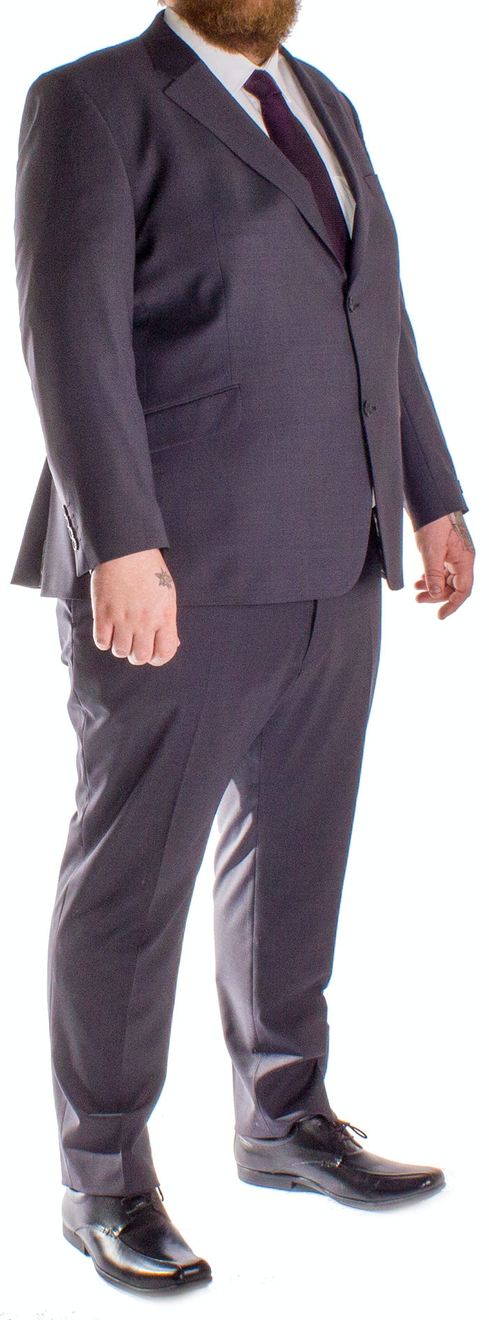 Hugo James Hazan Suit Charcoal