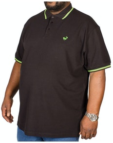 Bigdude Tipped Polo Shirt Black/Green