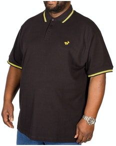 Bigdude Tipped Polo Shirt Black/Yellow Tall