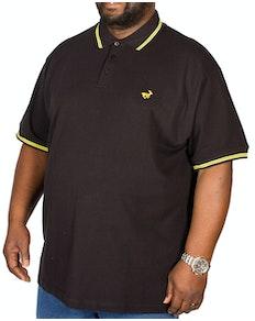 Bigdude Tipped Polo Shirt Black/Yellow Tall