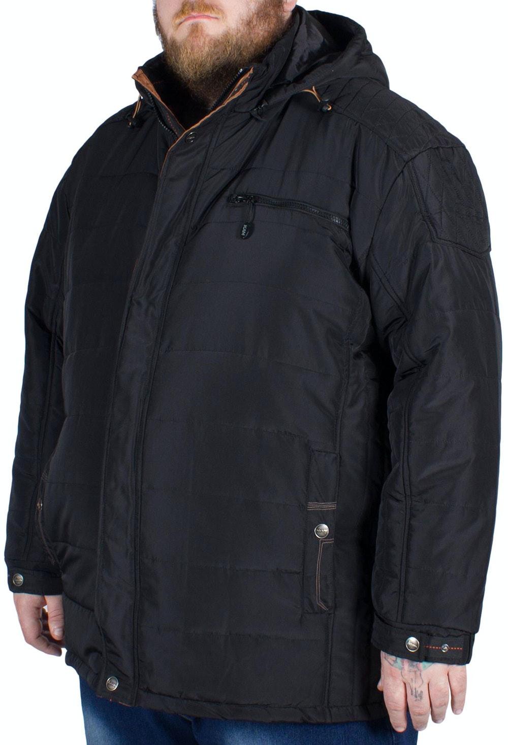 KAM Padded Coat Black Tall
