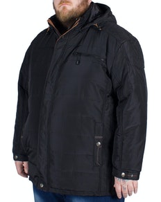 KAM Padded Coat Black Tall