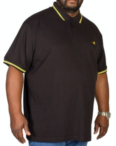 Bigdude Tipped Polo Shirt Black/Yellow